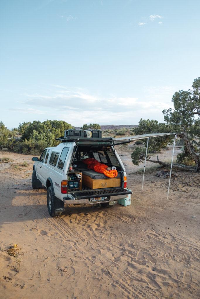 Overlanding Toyota Truck awning
