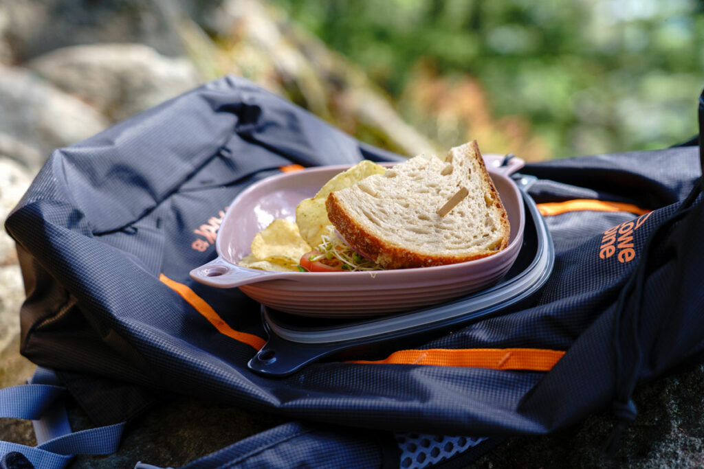 Food in UCO Ware mess kit rock climbing outdoor lunch