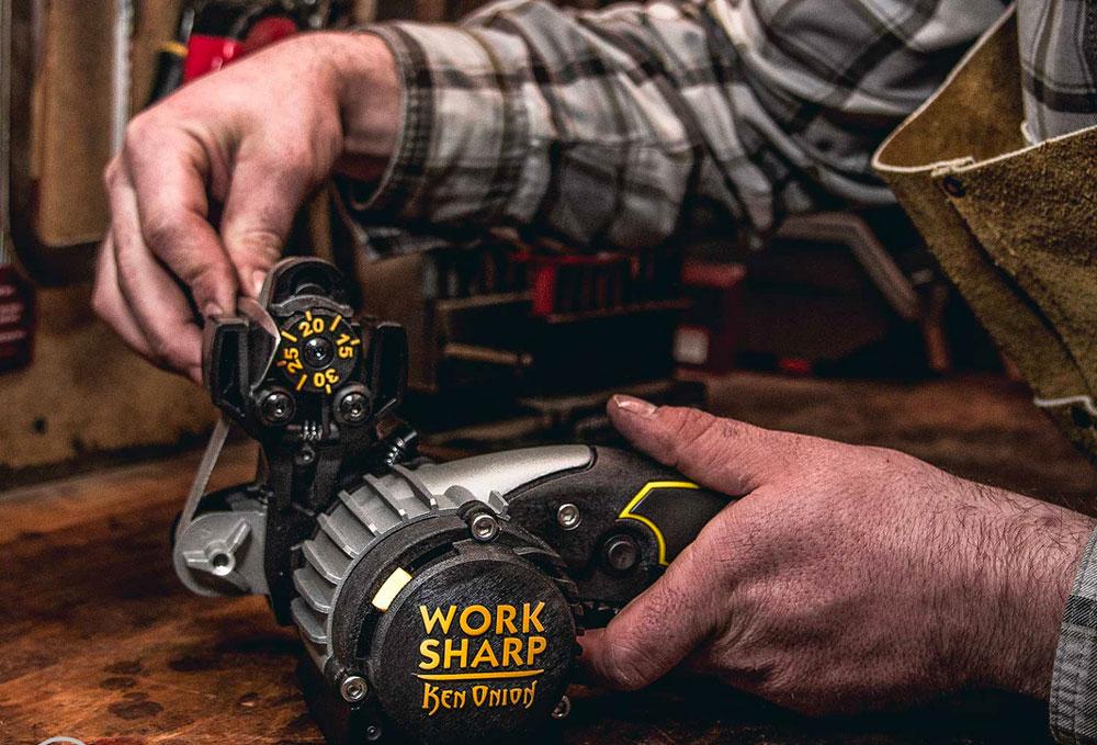 Work Sharp machine sharpening Morakniv knives